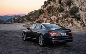 Picture Audi, sedan, Audi A6, 2020, bend road, Audi S6, US-version