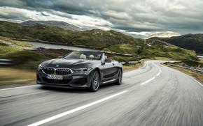 Picture hills, speed, BMW, convertible, xDrive, G14, 8-series, 2019, Eight, M850i Convertible