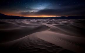 Picture night, nature, desert