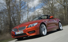 Picture forest, movement, BMW, Roadster, 2013, E89, BMW Z4, Z4, sDrive35is