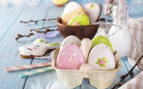 Picture holiday, Easter, Easter, composition, Eggs