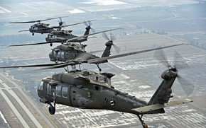 Picture weapons, army, Sikorsky, UH-60, Black Hawk, helicopters