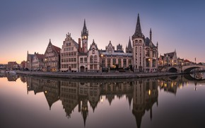 Picture Belgium, Ghent, Panoramic view, Fabulous City