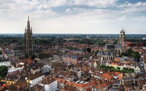Picture home, panorama, Belgium, Bruges, Belfort