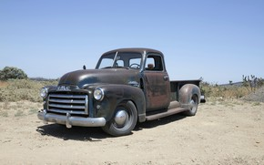 Picture the sky, earth, 150, pickup, 2018, the ground, GMC, 1949, ICON, Long Bed Derelict, GMC …