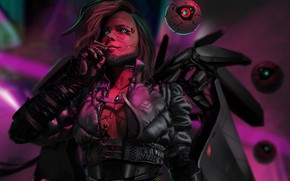 Picture Girl, Fantasy, Art, Robot, Style, Illustration, Concept Art, Characters, Science Fiction, Cyberpunk, Investigator, Storytelling, by …