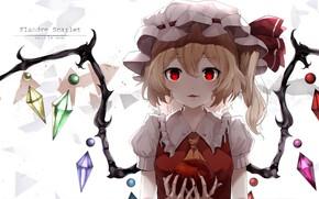 Picture girl, Apple, touhou, flandre scarlet, snozaki