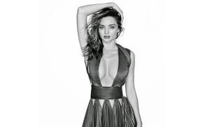 Picture Girl, B/W, Chest, Look, Model, Girl, Black and white, Dress, Breast, Model, Beauty, Beautiful, Miranda …