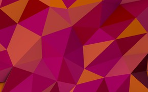 Picture background, triangles, corners, pink, background, pattern, orange, polyhedra, polygon