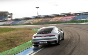 Picture coupe, 911, Porsche, turn, tribune, Carrera 4S, 992, 2019