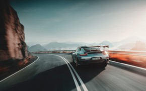Picture speed, 911, Porsche, rear view, 2018, GT2 RS