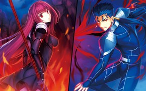 Picture girl, guy, characters, Lancer, Fate / Grand Order, The destiny of a great campaign