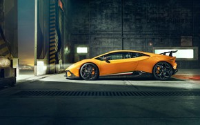 Picture Lamborghini, side view, 2018, Performante, Novitec, Huracan