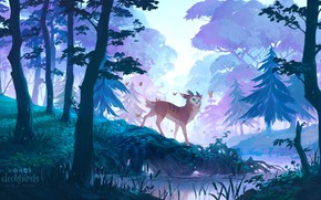 Picture forest, nature, fabulous animal