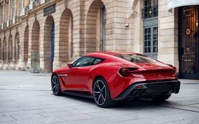 Picture Red, Sports car, Back, British car, Aston Martin Zagato