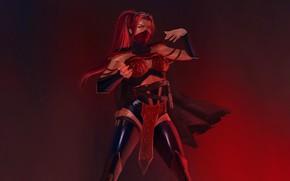 Picture Fighter, Art, Mortal Kombat, Mortal Kombat, Scarlet, Character, Skarlet, MK, by Julia Yashina, Julia Yashina