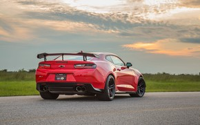 Picture sunset, Chevrolet, Camaro, rear view, Hennessey, ZL1, 2017, HPE850