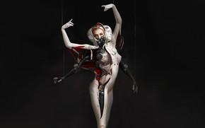 Picture Girl, Minimalism, Style, Girl, Costume, Mask, Fantasy, Art, Art, Style, Fiction, Fiction, Ballerina, Illustration, Concept …