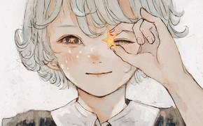 Picture star, boy, white hair
