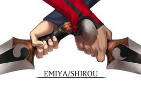 Picture hands, Emiya Shirou, Fate stay night, Fate / Stay Night