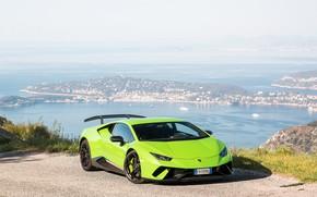 Picture Lamborghini, Green, Performante, Huracan