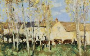 Picture landscape, picture, Pierre Eugène Montesin, Pierre-Eugene Montezin, Misy-Sur-Yon