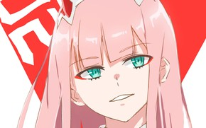 Picture look, girl, art, horns, 002, Darling In The Frankxx, Cute in France, Zero Two