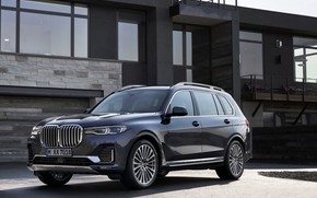 Picture BMW, 2018, crossover, SUV, 2019, BMW X7, the building, X7, G07
