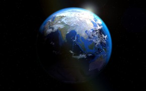 Picture planet, Earth, continents