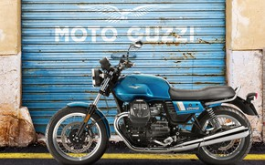 Picture moto, special, garage door, guzzi, v7 III
