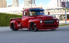 Picture Red, Truck, Custom, Vehicle, Modified, Russian truck, ZIL-130