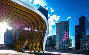 Picture the sky, clouds, building, Austria, architecture, Vienna