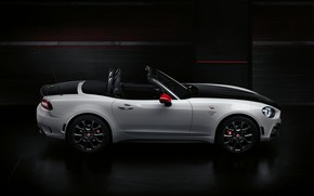 Picture profile, Roadster, spider, black and white, double, Abarth, 2016, 124 Spider