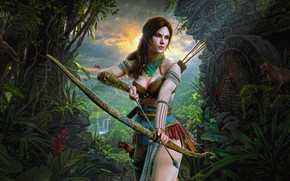 Picture Girl, Figure, Tomb Raider, Art, Beauty, Sexy, Figure, Lara Croft, Illustration, Fan Art, Character, Characters, …