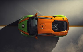 Picture machine, Lamborghini, the view from the top, Evo, Huracan, GT Celebration