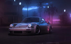 Wallpaper Auto, 911, Porsche, Machine, Art, Porsche 911, Carrera, RSR, Synth, Game Art, Porsche 911 Carrera, ...