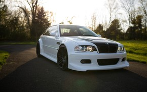 Picture BMW, Carbon, White, E46, Sight
