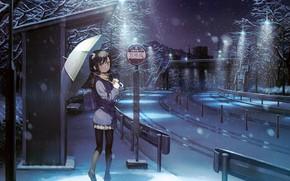 Picture Girl, Street, Umbrella, kantoku, shizuku