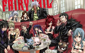 Picture girls, dragons, guys, characters, Fairy Tail, Fairy tail