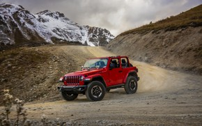 Picture red, tops, turn, primer, 2018, Jeep, Wrangler Rubicon