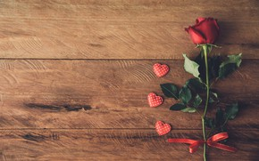 Picture love, heart, rose, red, love, rose, flower, wood, romantic, hearts
