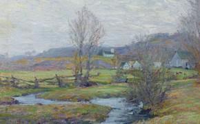 Picture landscape, Early Spring. Pleasant Valley. Connecticut, Robert William Vonnoh, Robert William Vonnoh, 1916-17