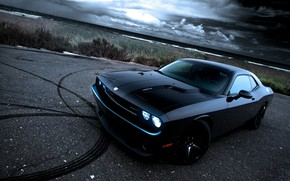 Picture asphalt, muscle car, dodge, muscle car, charger