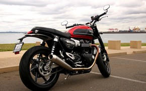 Picture asphalt, motorcycle, bike, Triumph Speed Twin 1200