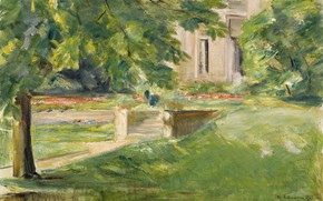 Picture landscape, picture, 1923, Max Liebermann, Max Liebermann, The house and terrace on the South-West