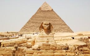 Picture desert, egypt, pyramids