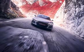 Picture Audi R8, Supercar, Silver