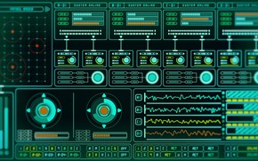 Picture Background, Monitor, Art, Render, Screen, Background, Screen, Monitor, Keita Chiyomatsu, Sci-Fi Monitor, by Keita Chiyomatsu