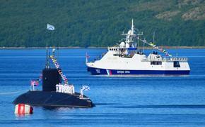 Picture submarine, parade, patrol, Kaluga, alert