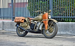 Picture Vintage, Harley-Davidson, Military, XA Type 1, 1942 Year